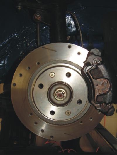 PEUGEOT 206 GTI 180 DRILLED BRAKE DISC MINTEX PAD